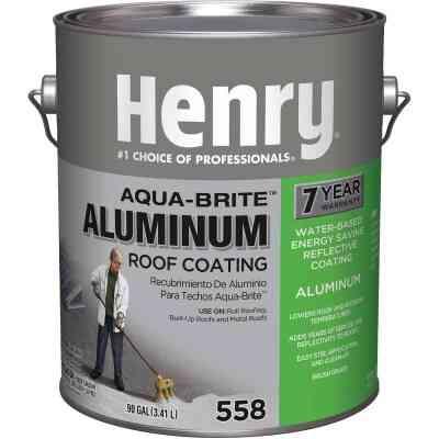 Henry Aqua-Brite 1 Gal. Fibered Aluminum Roof Coating