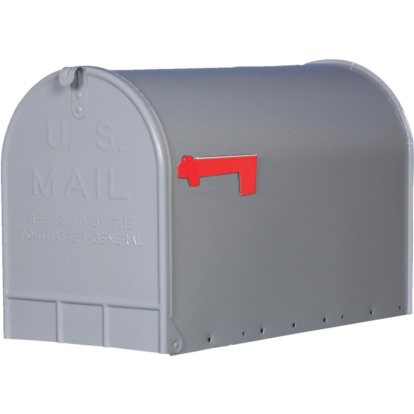 Gibraltar Stanley T3 Gray Steel Rural Post Mount Mailbox Image 1