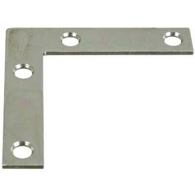 National Catalog 117 2-1/2 In. x 1/2 In. Zinc Flat Corner Iron