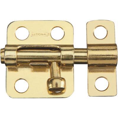 National 2 In. Satin Brass Cellar Window Barrel Bolt