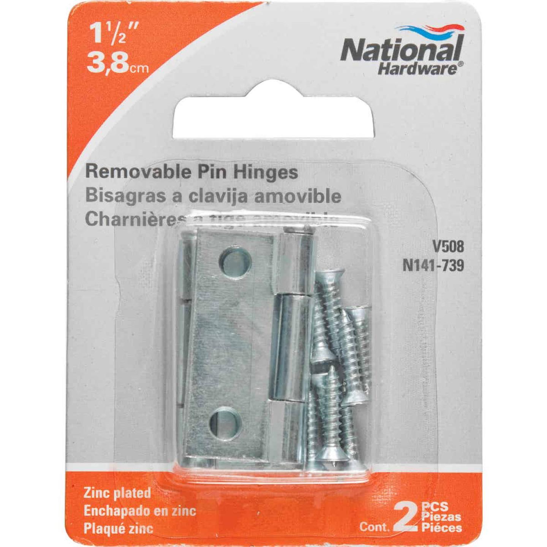 National 1-1/2 In. Zinc Loose-Pin Narrow Hinge (2-Pack) Image 2