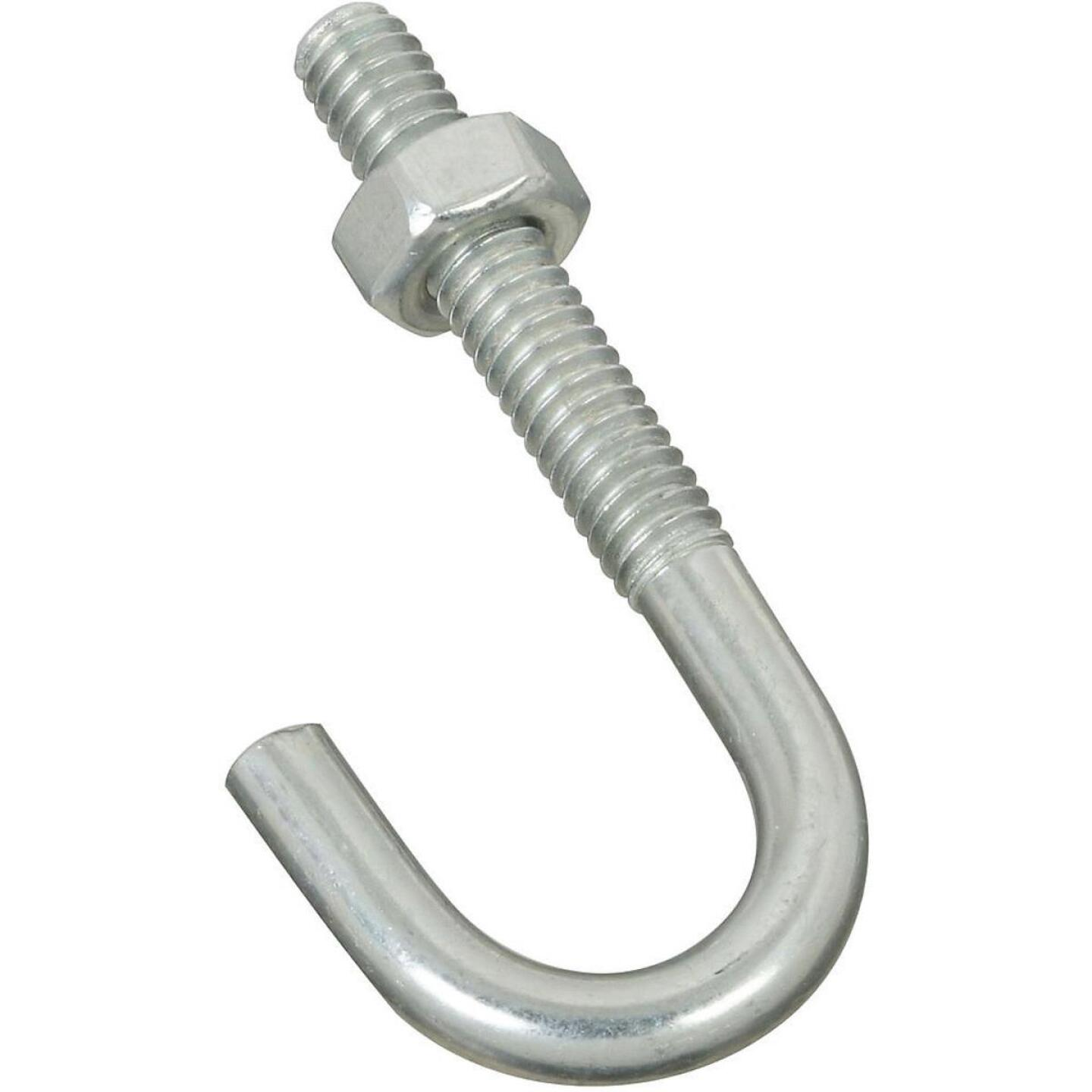 National 1/4 In. x 2-5/16 In. Zinc J Bolt Image 1