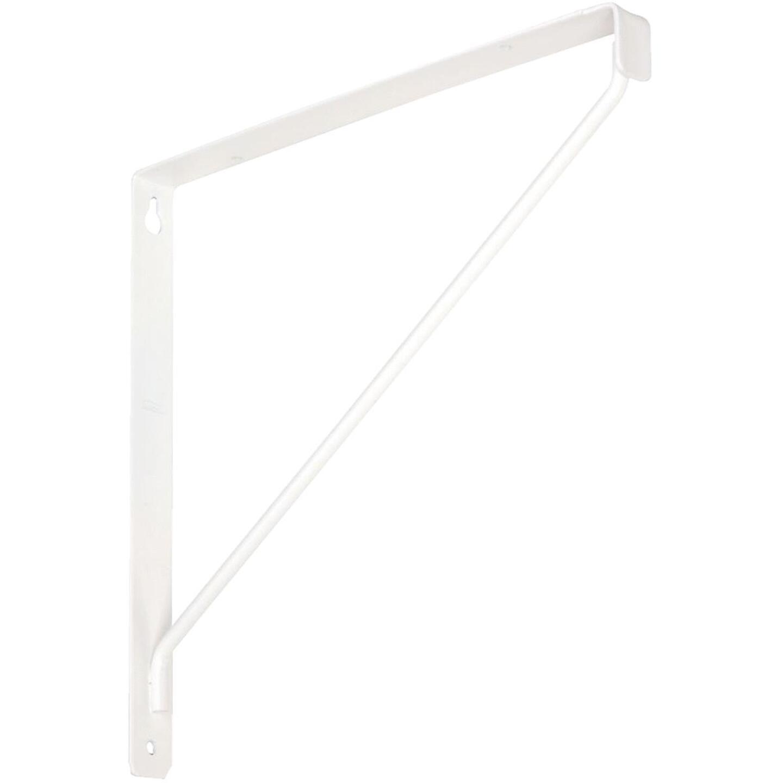 National 207 10-3/8 In. D. x 7-1/32 In. H. White Steel Shelf Bracket Image 1